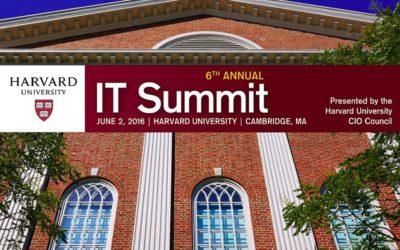 Our CEO Speaks at Harvard IT Summit