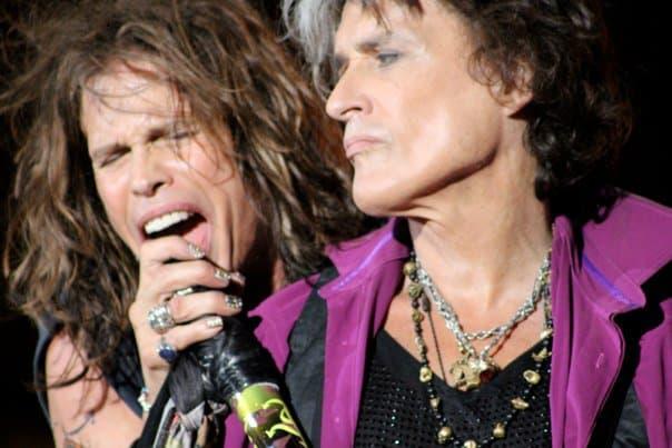 Steven Styler and Joe Perry of Aerosmith at Fenway Park 2010