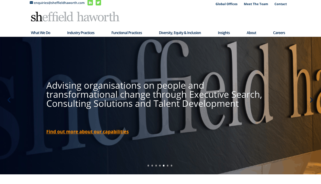 Sheffield Haworth is a NYC executive search firm