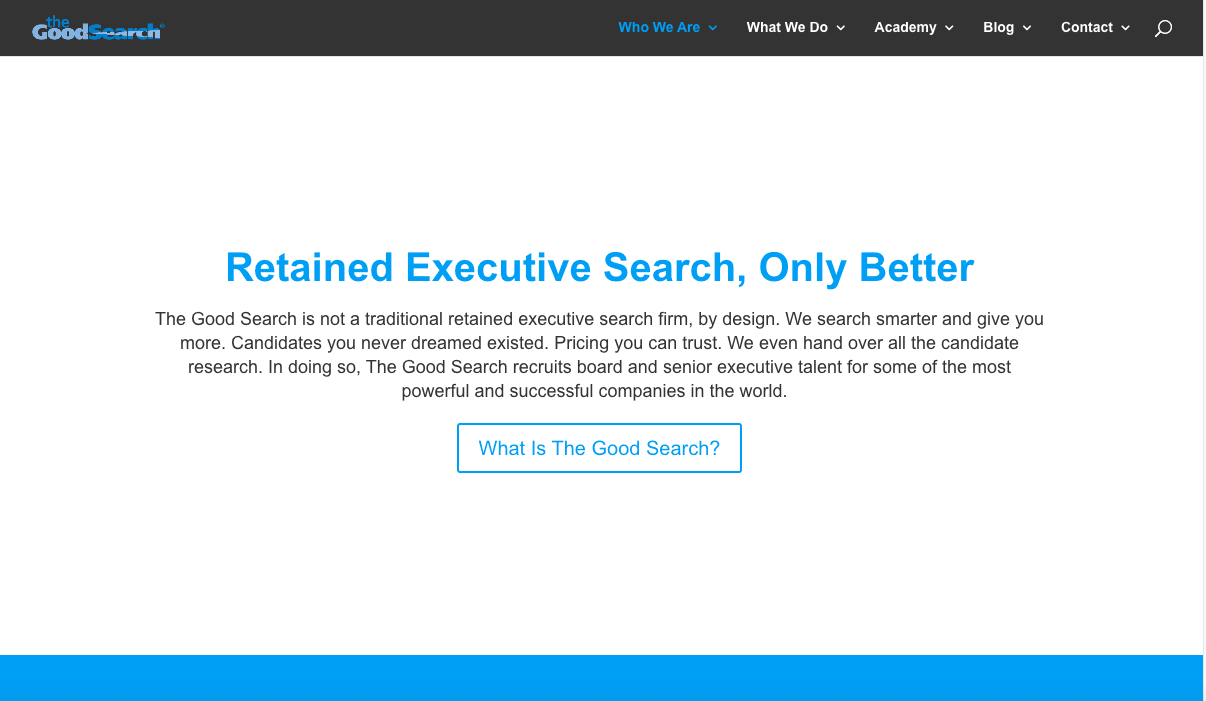 The Good Search (TGS) is a top executive search firm in NYC